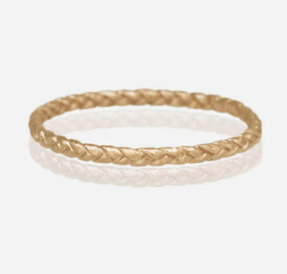 14k yellow gold Small Braid Ring