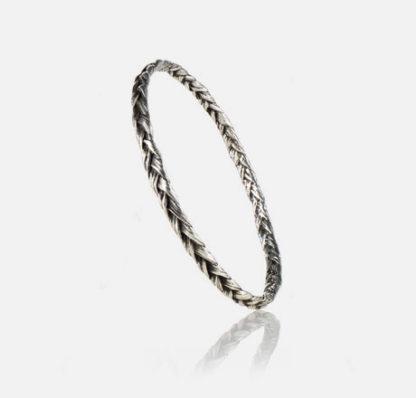 Braid Bangle Sterling Silver