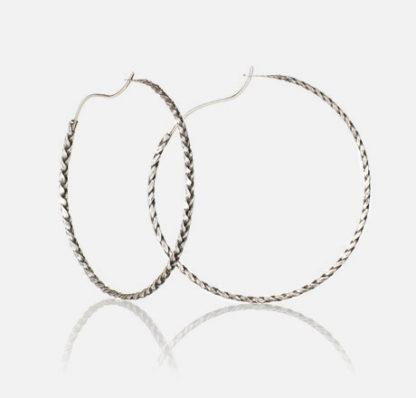 Braid Hoops Sterling Silver