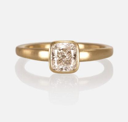 Custom Cushion Cut Diamond Ring