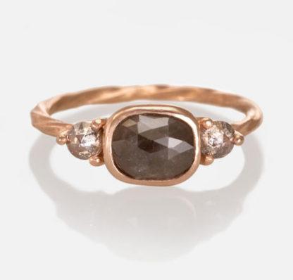 Custom 14k Rose Gold Engagement Ring