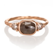 Custom 14k Rose Gold Engagement Ring