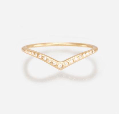 18k yellow gold Diamond Archer Ring