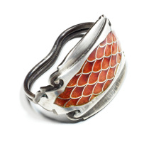 Dragon Scale Enamel Ring