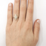18k white gold Flapper Ring on Model