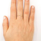 18k Yellow Gold Diamond Archer Ring on Model