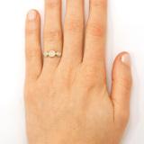Triple Diamond Old World Ring on model
