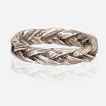 Silver Large Braid Ring