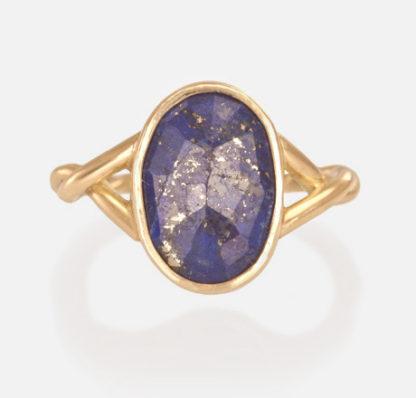 Lapis Lazuli Twist Ring