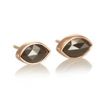 Old World Marquise Black Diamond Studs