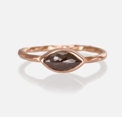 Old World Marquise Black Diamond Ring