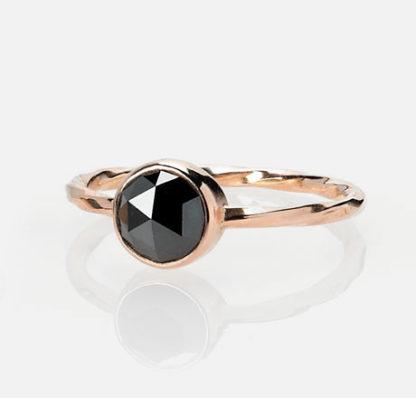 14k rose gold Old World Diamond Ring