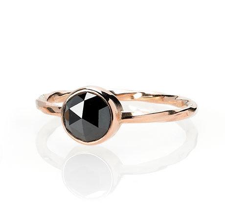 Old World Black Diamond Ring