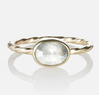 Oval Diamond Old World Ring