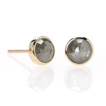 Old World Diamond 14k Gold Studs