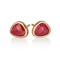 Rose Cut Ruby Studs