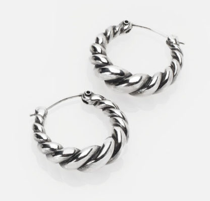 Twist Hoops Silver