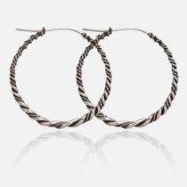 Silver Freya Twist Hoops