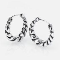 Small Twist Hoops Silver