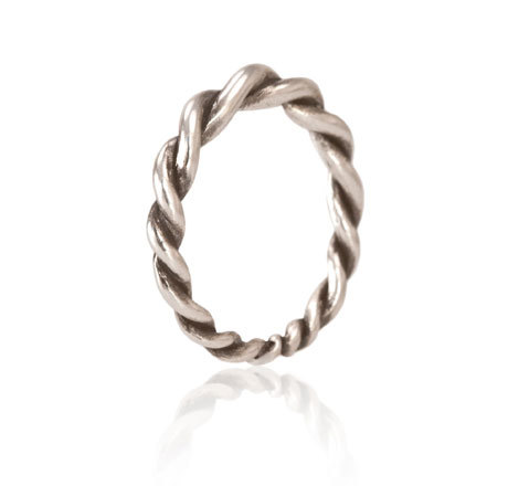 Small Twist Ring Silver