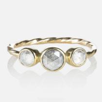 Triple Diamond Old World Ring