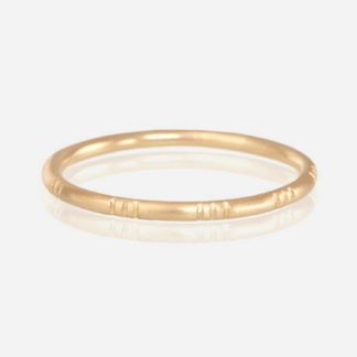 18k yellow gold Triple Line Ring