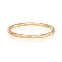 18k yellow gold Triple Line Ring