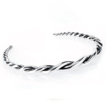 Silver Twist Cuff side view