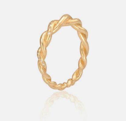 Diamond Twist Ring Side