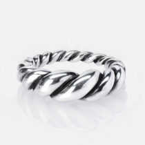 Large Twist Ring Sterling Silver