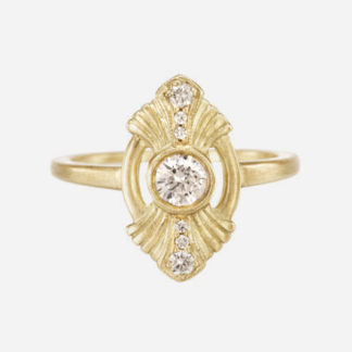 18k yellow gold Gatsby Ring 0.25 ct Diamond