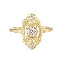 18k yellow gold Gatsby Ring 0.25 ct Diamond